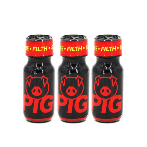 Poppers Pig Red X 3